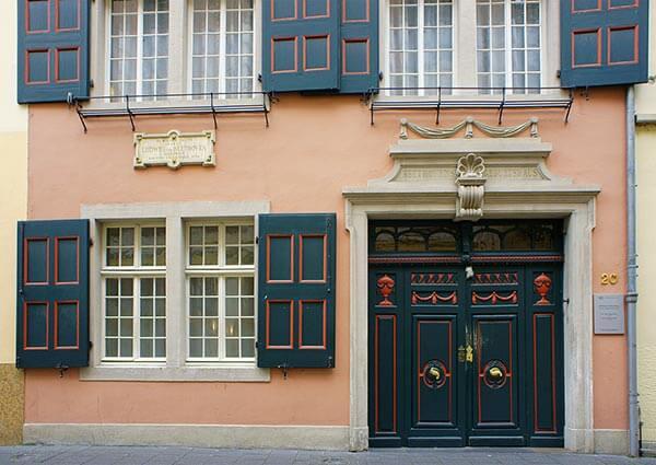 Im Beethoven-Haus in der Bonngasse erblickte der berühmte Komponist 1770 das Licht der Welt.