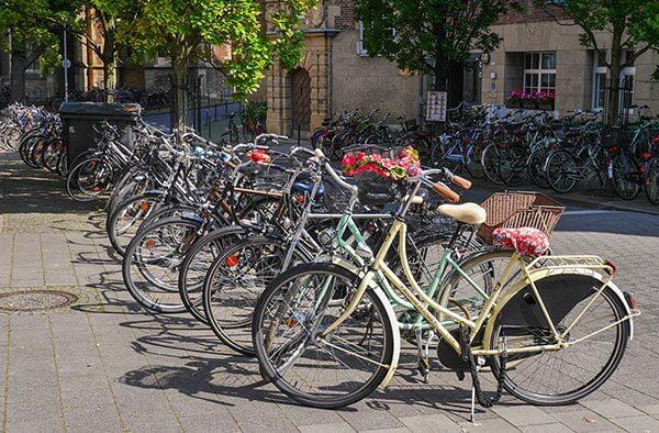 In Münster hat das Fahrrad einen Anteil von 38% am gesamten Stadtverkehr. Damit gehört die Stadt zu den Spitzenreitern in Europa.