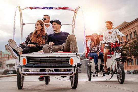 Bild Nebenjob als Rikschafahrer – Als Rikscha-Fahrer muss man seine Stadt kennen und die Fahrgäste gut unterhalten können.