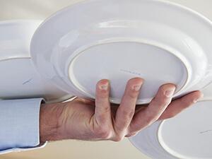 3-Teller-Technik / frei Teller tragen von unten