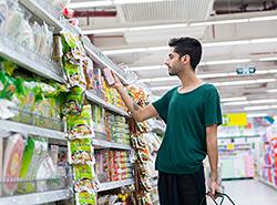 Bild Schüler/innen als Einkaufshilfe