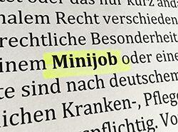 Bild Ratgeber: Minijobs / 450-Euro-Jobs als Beschäftigungsform für Schüler